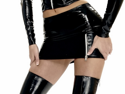 Datex Miniskirt with Side Zipper
