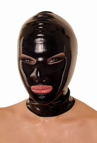 Latex Hood With Open Eyes & Mouth With Zipper