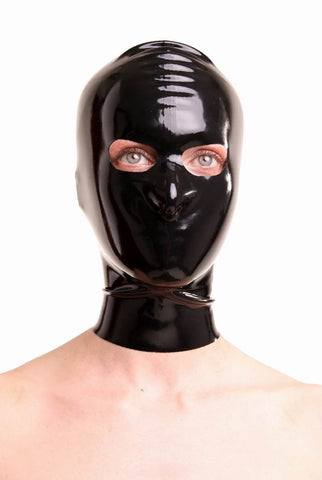 Latex Mask, Open Eyes with Zipper