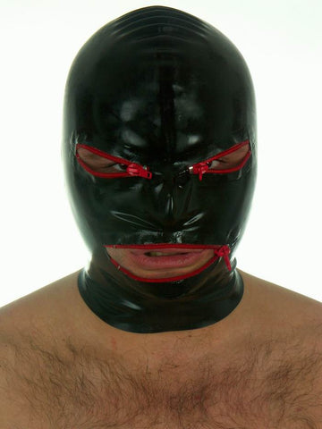 Latex Mask, Zippered Eyes and Mouth