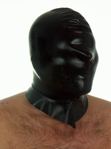 Men's Latex Mask with No Openings