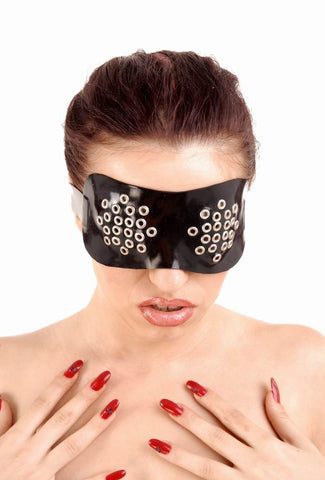 Latex Eye Mask with Metal Rivets
