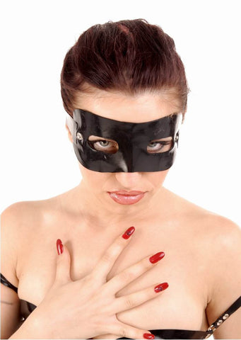 Latex Mask With Snapable Eye Covers