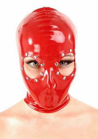 Latex Hood, Open Eyes with Metal Accents