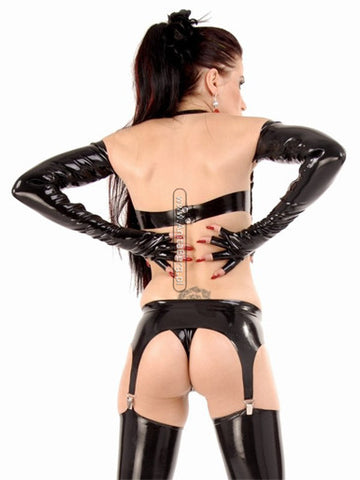 Latex Garter Belt, Basic Pull-Up with 4 Garters