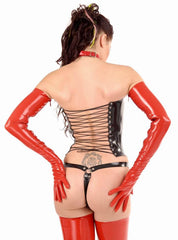 Full Breast Latex Corset, Lace Up Front and Back