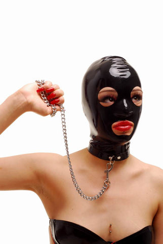 Latex Hood, Open Eyes & Mouth, Zippered