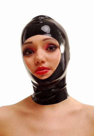 Latex Hood With Open Face
