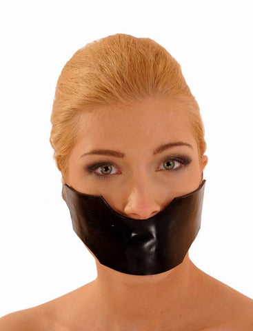 Latex Jaw Covering Gag/Mask