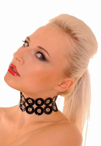 Latex Collar with Several Metal Rivets