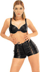 Leather Shorts, Lace Up Front Accenting