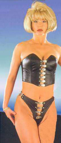 Leather Corset, Rivets on Front