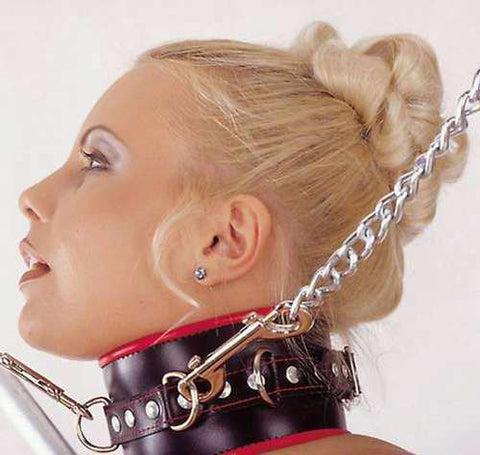 Leather Collar,Multi-Ring