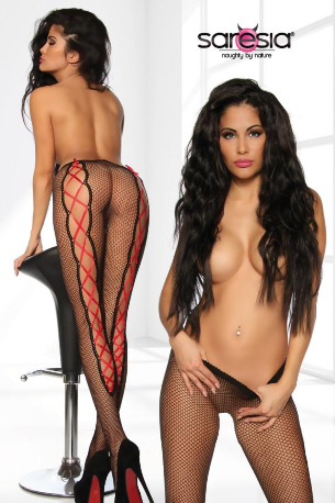 Mesh Tights with Lacing