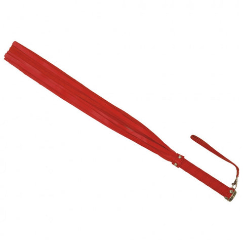 Red Flogger with Handle Strap