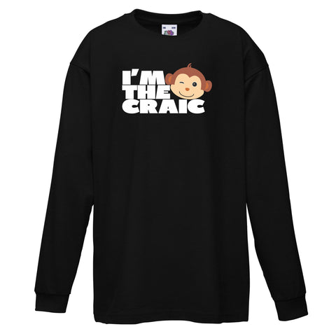 I'm the craic Black Long Sleeve T