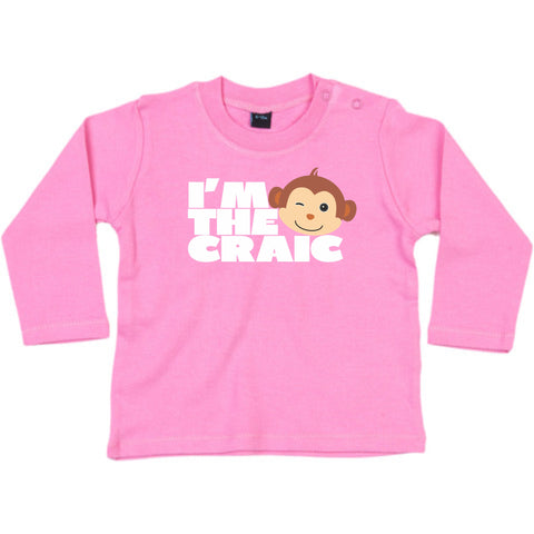 I'm the craic Pink Long Sleeve T