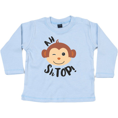 Ah Shtop! Blue Long sleeve T