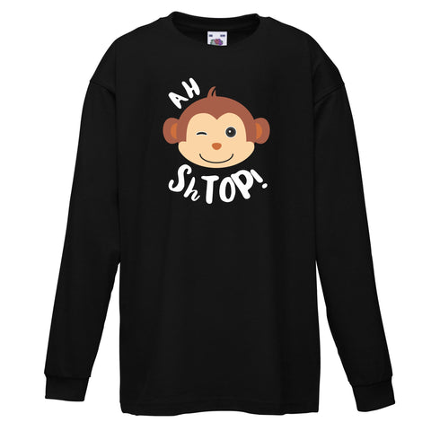 Ah Shtop! Black Long sleeve T