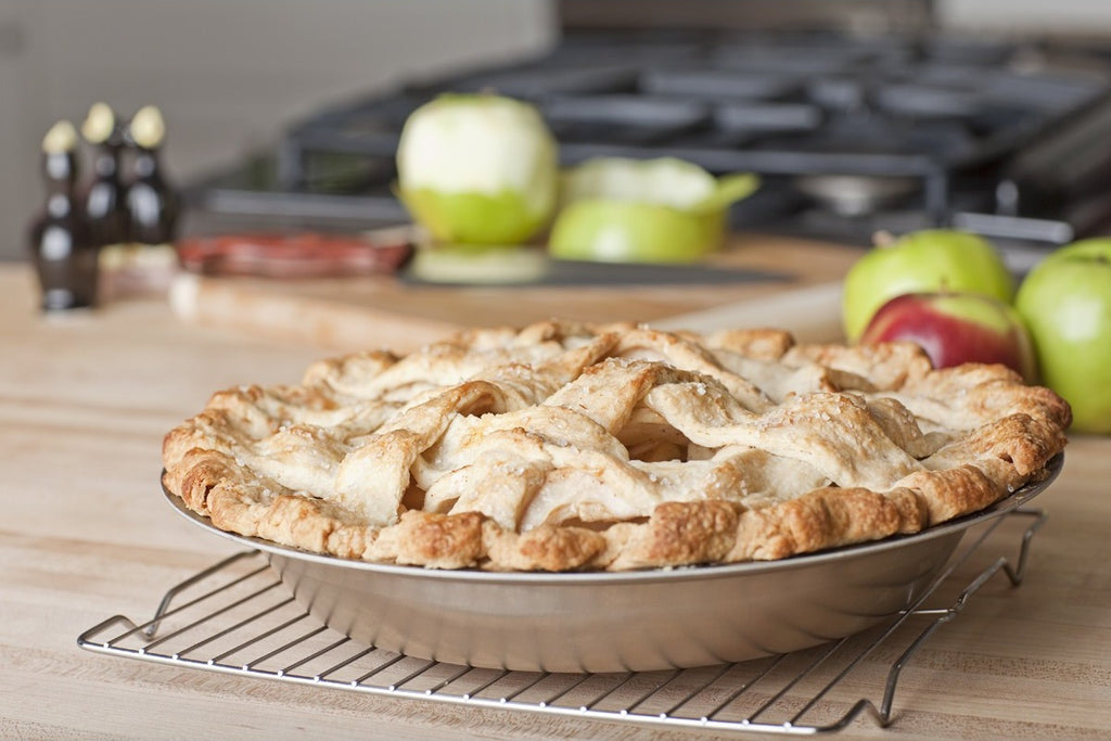 Factory Seconds Stainless Steel Pie Pan - 360 Bakeware 360 Cookware