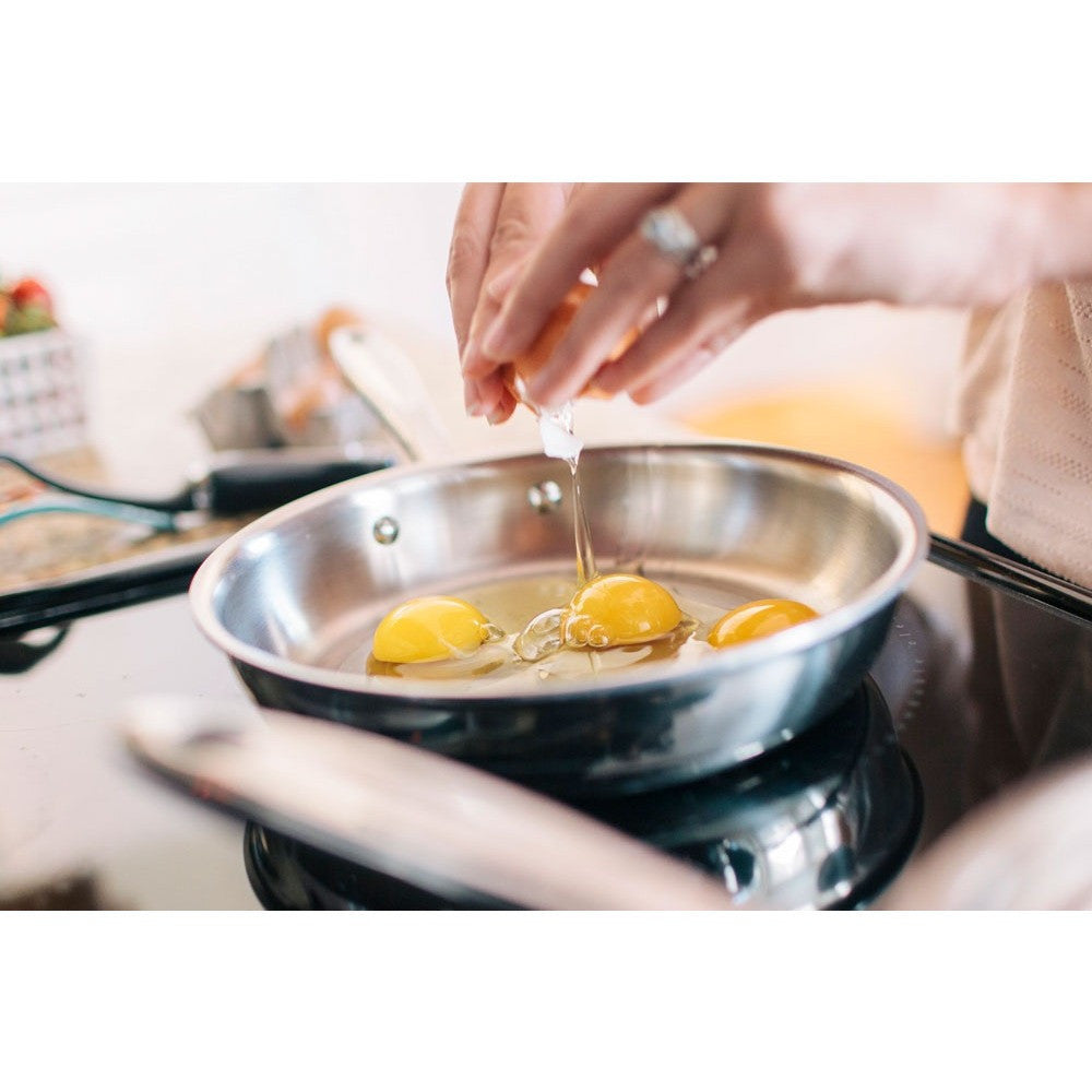 Stainless Steel 8.5 Inch Fry Pan - 360 Cookware 360 Cookware