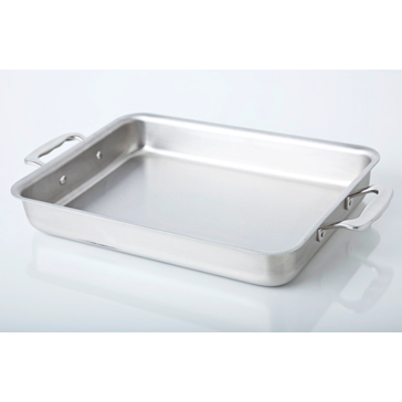 "9"" x 13"" Stainless Steel Bake & Roast Pan - 360 Bakeware 360 Cookware"
