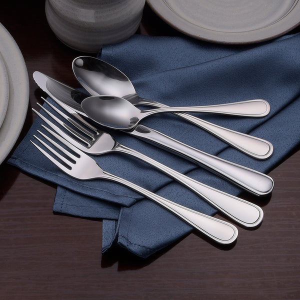 Classic Rim- 65 Piece Set - Flatware 360 Cookware