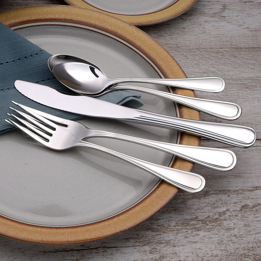 Classic Rim- 45 Piece Set - Flatware 360 Cookware
