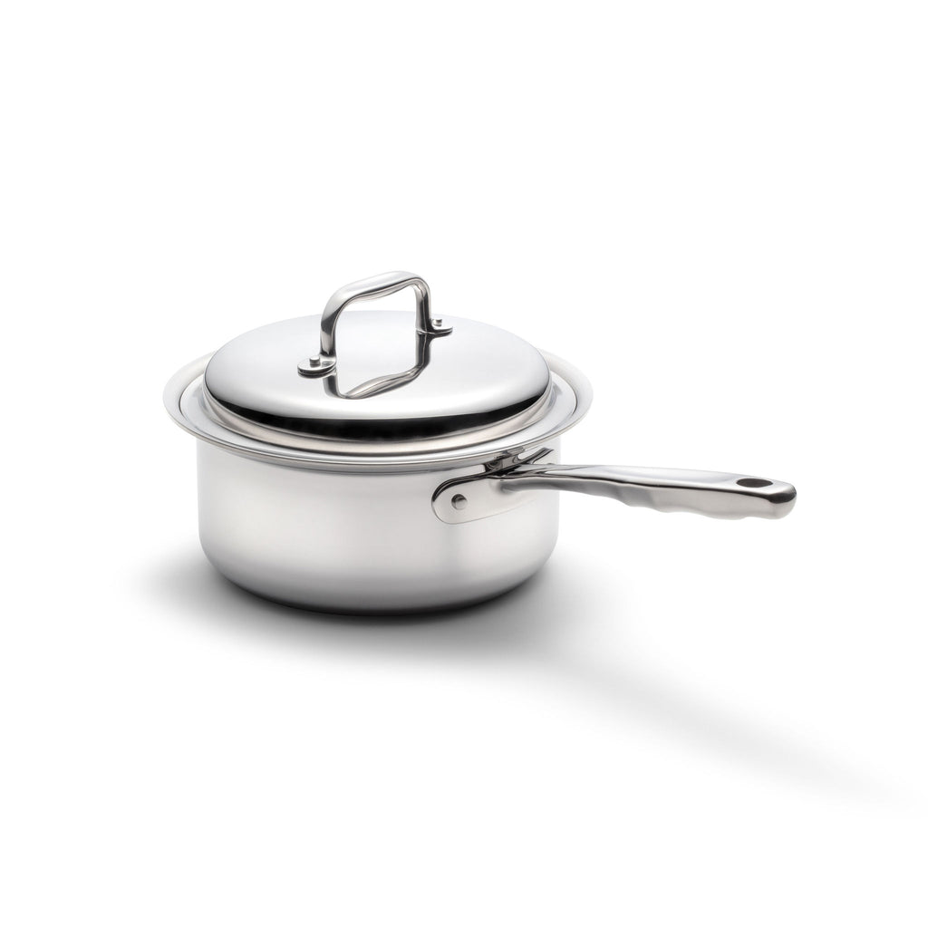 Stainless Steel 3 Quart Saucepan with Cover - 360 Cookware 360 Cookware