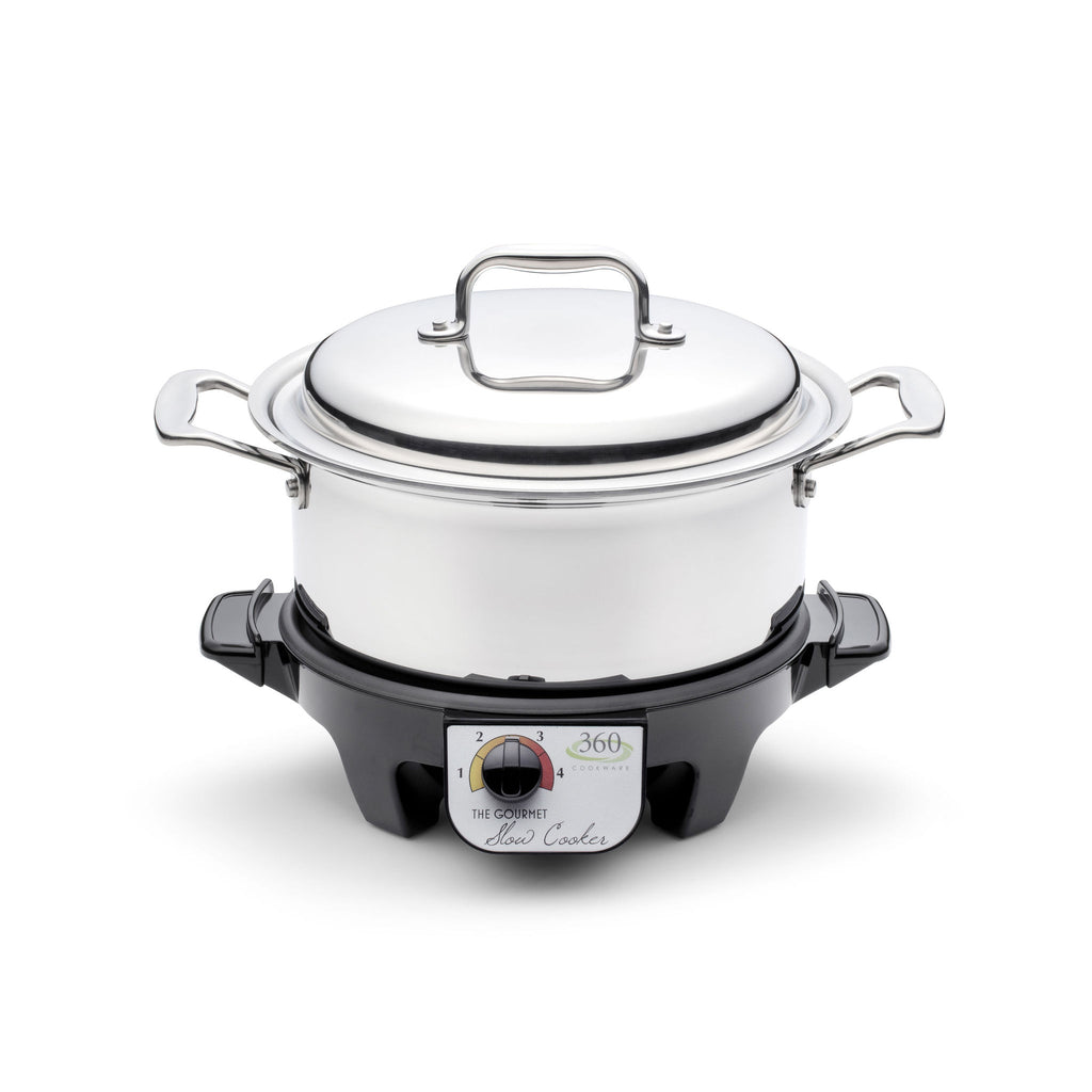 4 Quart Stainless Steel Stock Pot with Cover / Slow Cooker - 360 Cookware 360 Cookware