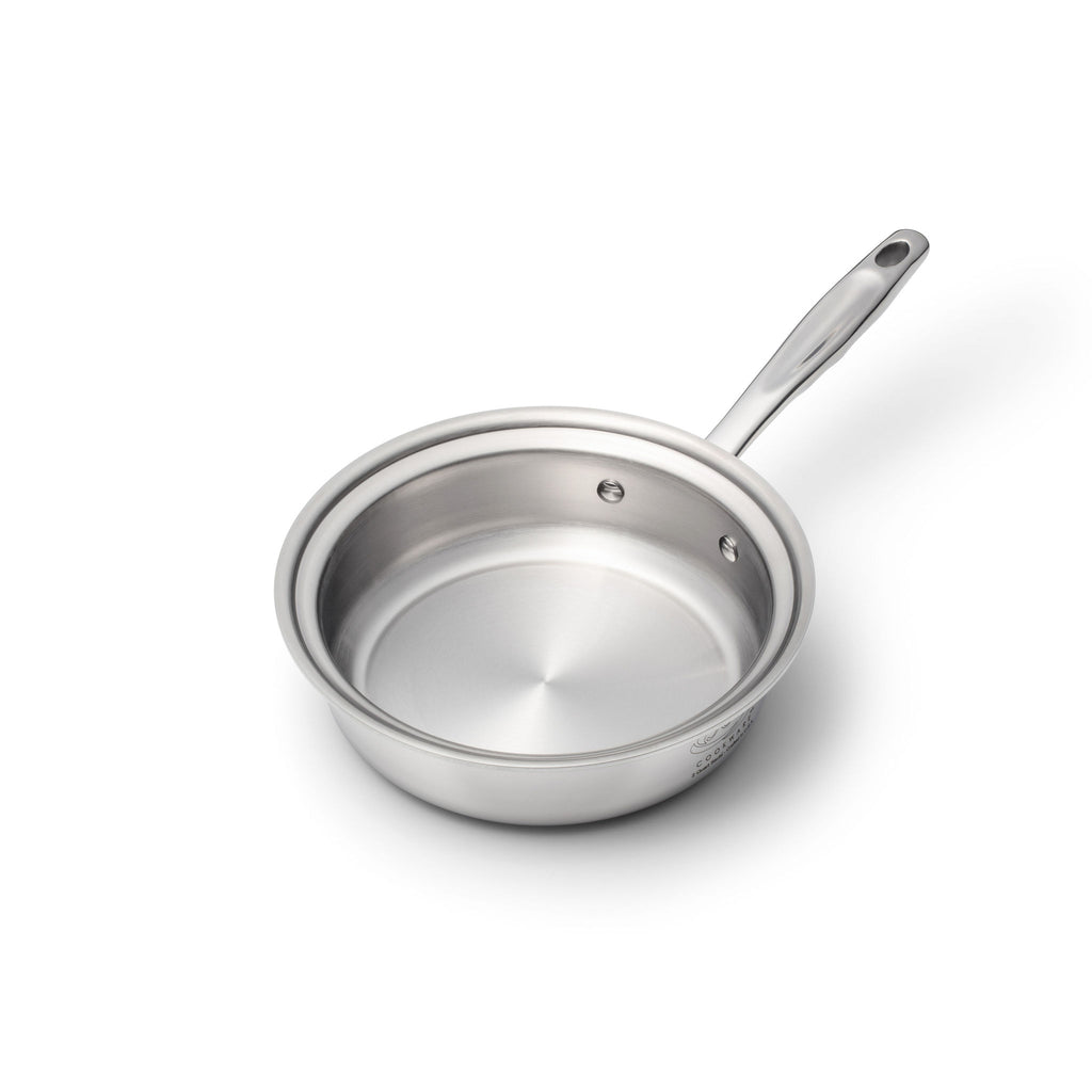Factory Seconds Stainless Steel 2 Quart Sauté Pan with Cover - 360 Cookware