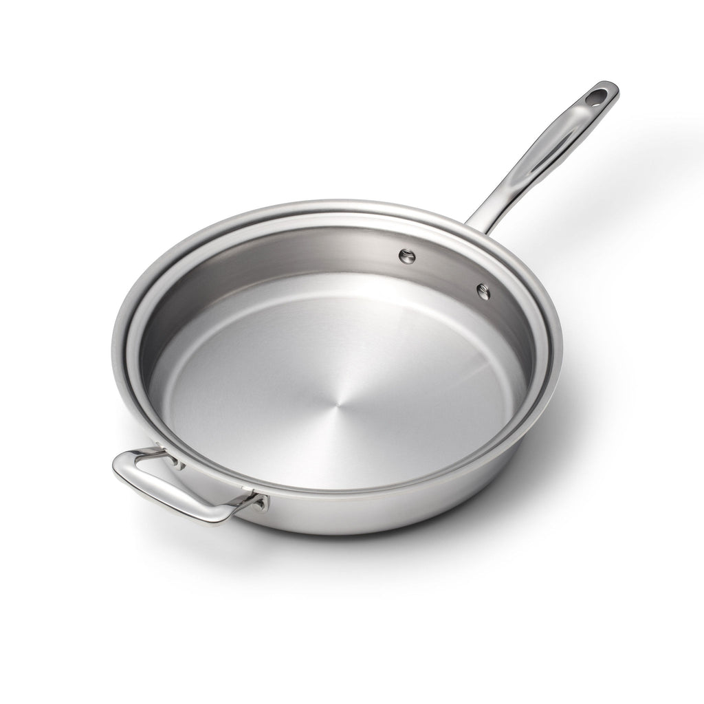 Stainless Steel 3.5 Quart Sauté Pan with Cover - 360 Cookware 360 Cookware