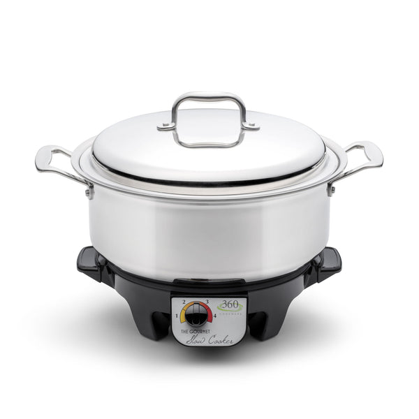 6 Quart Stainless Steel Stock Pot with Cover / Slow Cooker - 360 Cookware 360 Cookware