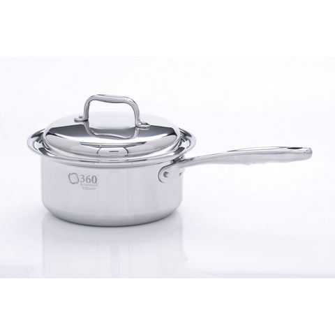 Non-Induction 3 Quart Saucepan! - 360 Cookware 360 Cookware