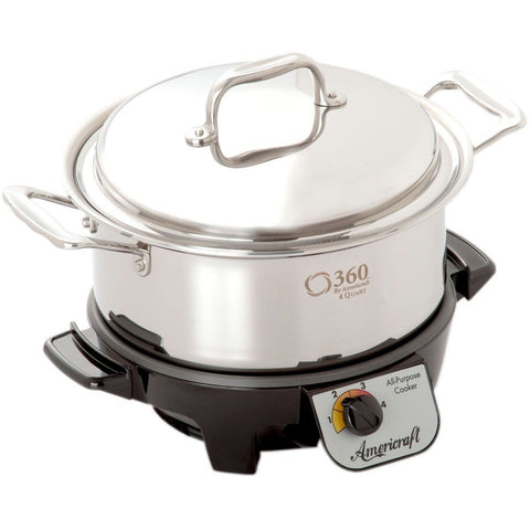 Factory Seconds Stainless Steel 4 Quart Stock Pot with Cover / Slow Cooker