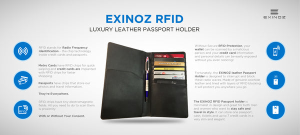 EXINOZ RFID PASSPORT WALLET
