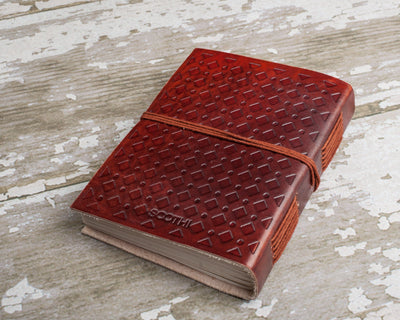 """Hardships And Extraordinary Journey"" Handmade Leather Journal"