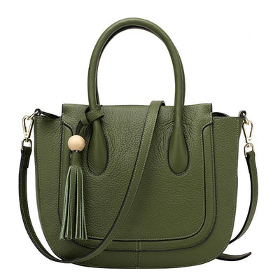 Euna - Genuine Leather Bucket Handbag - Exinoz