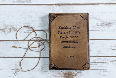 """Hardships And Extraordinary Journey"" Handmade Leather Journal - Exinoz"