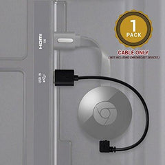 Chromecast USB Cable -- 8 Inch USB Cable and Bonus Chromecast eBook. Designed to Power Your Google Chromecast HDMI Streaming Media Player from Your TV USB Port