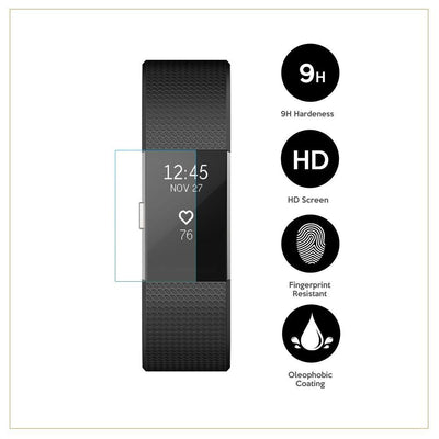 EXINOZ Fitbit Charge 2 Screen Protector 3 PACK - Exinoz