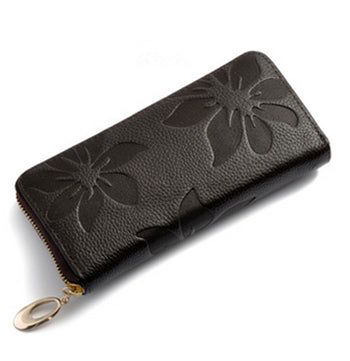 Genuine Leather Long Wallet for Women - Exinoz