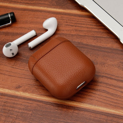 Genuine Leather Airpods Protective Case - Exinoz