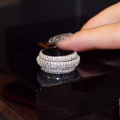 Full Pave Silver Simulated Stones