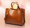 Vintage Oil Leather Handbag - Exinoz