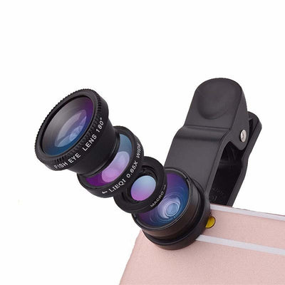Phone Lens kit Universal 2 in 1 Wide & Macro Angle Lens for Smartphones