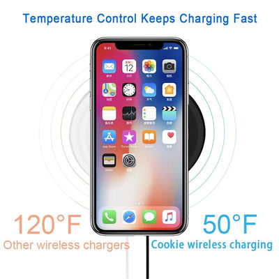 10W Wireless Charger Charging Pad for Samsung Galaxy S9, S8, S7, Note 8, 9, iPhone X, 8, Plus. Waterproof Mini Induction Charger