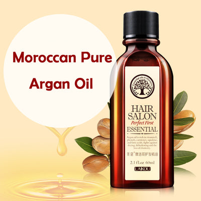 Pure Moroccan Argan Oil 60ml Hair & Scalp Treatment - Exinoz