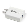 USB Fast Quick Wall Charger (18W: 5V, 9V, 12V / 4A) for Android or iPhone
