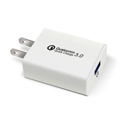USB Fast Quick Wall Charger (18W: 5V, 9V, 12V / 4A) for Android phones or iPhone - Exinoz